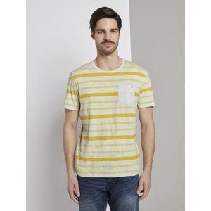 TOM TAILOR Tričko  žlutý melír