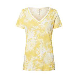 Key Largo Tričko  žlutá / offwhite