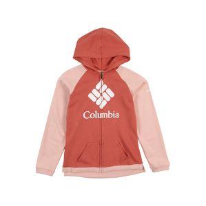 COLUMBIA Sportovní mikina s kapucí  bílá / červená / pink