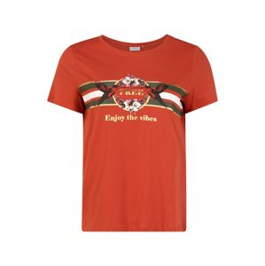 ONLY Carmakoma Tričko 'CARAMALFI'  oranžově červená