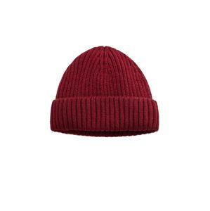 MANGO MAN Čepice  rubínově červená