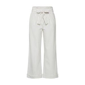VILA Kalhoty se sklady v pase 'PINTRI'  černá / bílá