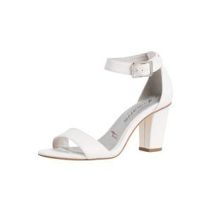 TAMARIS Páskové sandály  bílá