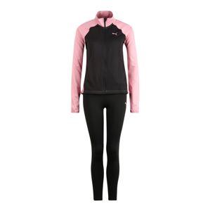 PUMA Sportovní souprava  růžová / černá