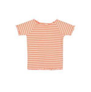 STACCATO Tričko  šedý melír / korálová / žlutá / bílá