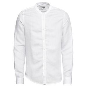 !Solid Košile 'Shirt - Land Linnen Chinacol'  bílá