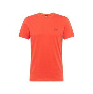 BOSS ATHLEISURE Tričko  oranžově červená / tmavě modrá