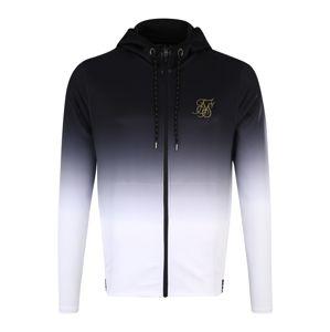 SikSilk Mikina s kapucí 'siksilk agility zip through hoodie'  černá / bílá