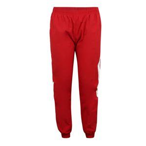 Urban Classics Curvy Kalhoty 'Ladies Striped Crinkle Pants'  červená / bílá