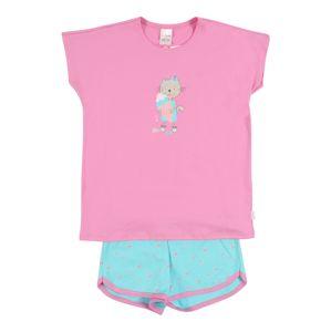 SCHIESSER Pyžamo  modrá / růžová