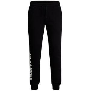 JACK & JONES Sportovní kalhoty 'Gordon'  černá / bílá
