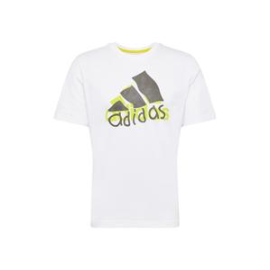 ADIDAS PERFORMANCE Funkční tričko  bílá / citronově žlutá / tmavě šedá
