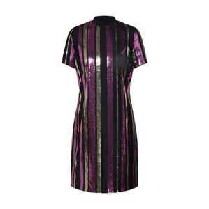 Noisy May Koktejlové šaty 'TILDA'  zlatá / fialová / černá