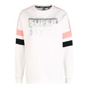 Superdry Mikina  korálová / černá / bílá / stříbrná