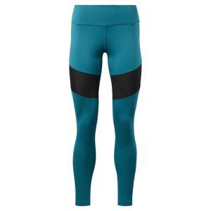 REEBOK Sportovní kalhoty  černá / nebeská modř