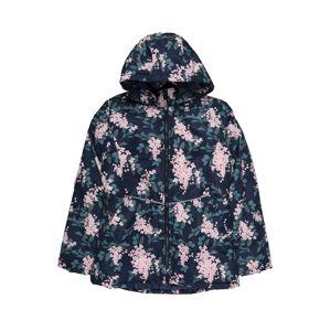 NAME IT Přechodná bunda  smaragdová / námořnická modř / světle růžová