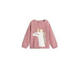 MANGO KIDS Svetr 'pony'  pink