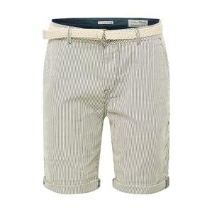 TOM TAILOR DENIM Chino kalhoty  offwhite / námořnická modř