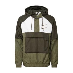 Nike Sportswear Přechodná bunda  tmavě zelená / khaki / bílá