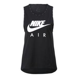 NIKE Sportovní top 'Nike Air'  černá / bílá