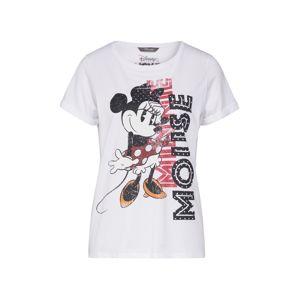 PRINCESS GOES HOLLYWOOD Tričko 'Disney Minnie'  černá / bílá / zlatě žlutá / pitaya / tmavě zelená