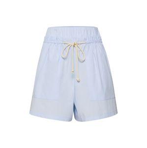 DRYKORN Kalhoty se sklady v pase 'MIGHT'  světlemodrá