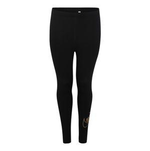 Nike Sportswear Legíny 'W NSW LGGNG GLITTER PLUS'  zlatá / černá