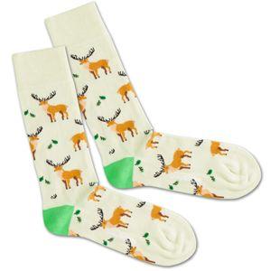 DillySocks Ponožky 'Deer Pack'  hnědá / mátová