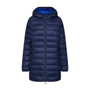 STREET ONE Zimní kabát 'long padded coat'  tmavě modrá