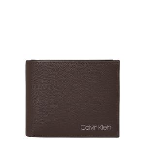 Calvin Klein Peněženka  tmavě hnědá / šedá