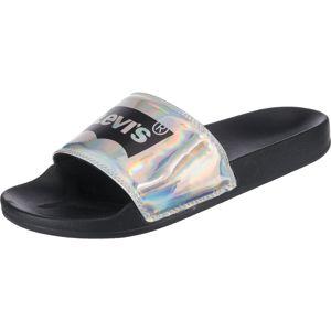 LEVI'S Pantofle 'June Batwing S'  mix barev / černá / stříbrná