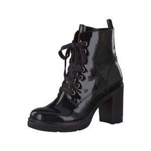 MARCO TOZZI Šněrovací boty  černá