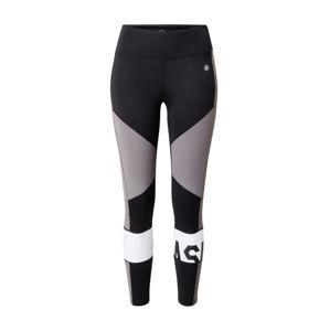 ASICS Sportovní kalhoty  šedá / černá / bílá
