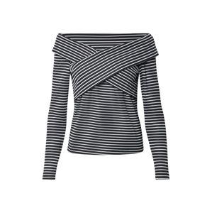 Trendyol Tričko  černá / bílá