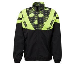 ADIDAS ORIGINALS Mikina s kapucí  černá / svítivě zelená