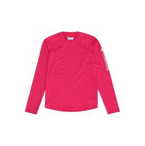 COLUMBIA Funkční tričko 'Sandy Shores'  pink / bílá