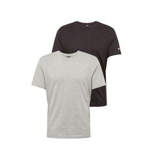 Champion Authentic Athletic Apparel Tričko  šedá / černá