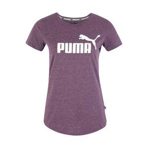 PUMA Funkční tričko  švestková / bílá
