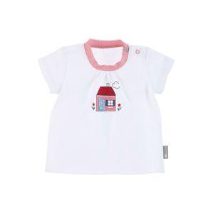 STERNTALER Tričko 'Haus'  bílá / růžová / červená