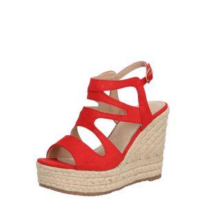 MARIAMARE Sandály 'WICCA'  béžová / červená