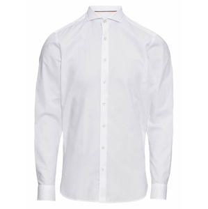 OLYMP Společenská košile 'Level 5 Smart Business Struktur'  bílá