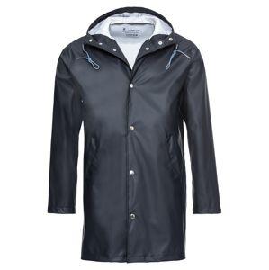 KnowledgeCotton Apparel Přechodný kabát 'Long Rain Jacket'  modrá
