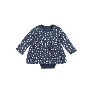 BLUE SEVEN Šaty  modrá džínovina / bílá