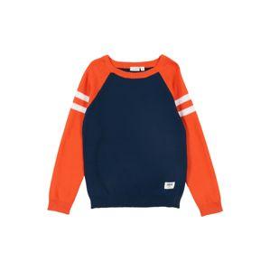 NAME IT Svetr 'Vusper'  bílá / tmavě modrá / oranžová
