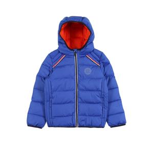 s.Oliver Zimní bunda  modrý melír / oranžově červená / bílá / černá