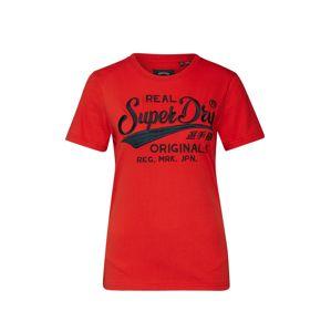 Superdry Tričko  krvavě červená
