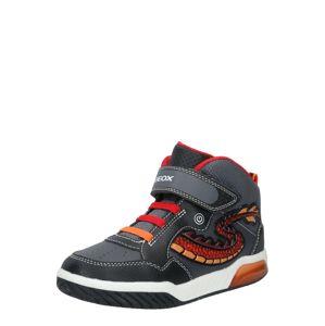 GEOX Tenisky  červená / černá / tmavě šedá / oranžová