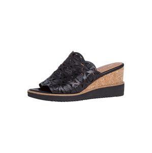 TAMARIS Pantofle  černá