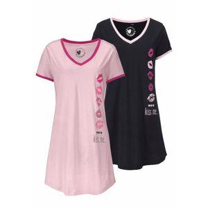 VIVANCE Noční košilka  růžová / černá