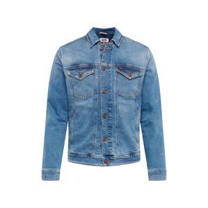 Tommy Jeans Přechodná bunda  modrá džínovina